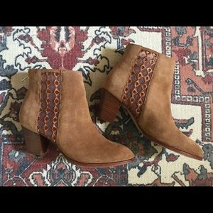 Anthropologie suede boots